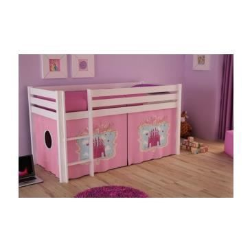 lit enfant sur lev fazione 6 achat vente structure de lit cdiscount. Black Bedroom Furniture Sets. Home Design Ideas
