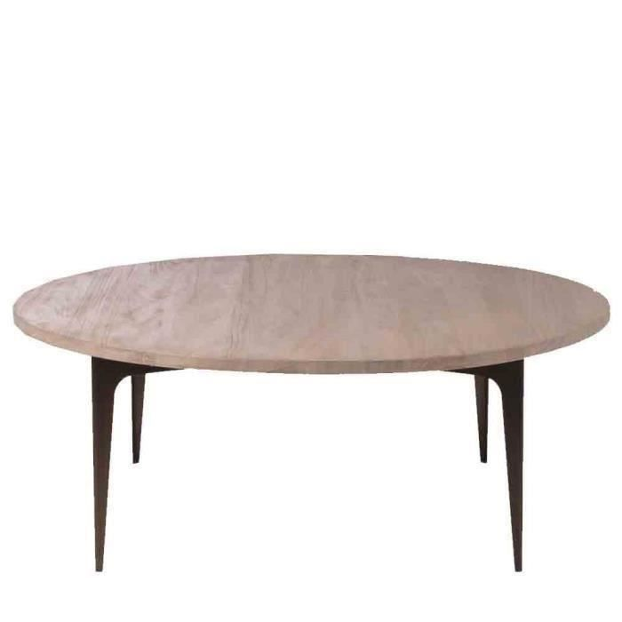 Table basse merry blanc d 39 ivoire achat vente table - Table basse blanc ...