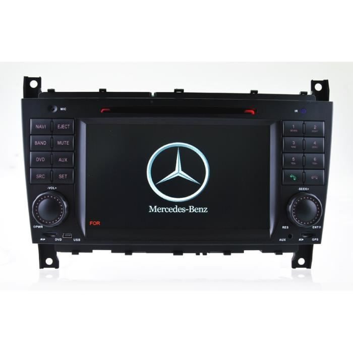 autoradio gps bluetooth pour mercedes benz classe c w203. Black Bedroom Furniture Sets. Home Design Ideas