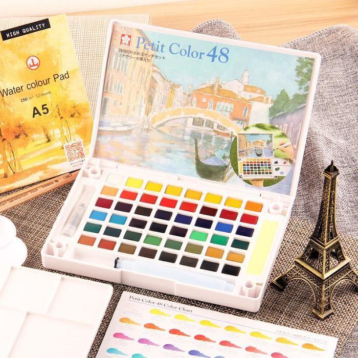 Artibetter Palette de Peinture 10 puits Palette de bac /à Peinture en Porcelaine pour Aquarelle Artiste Bricolage Artisanat de lart Professionnel Peinture Forme rectangulaire