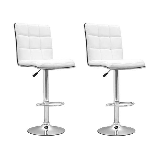 tabouret de bar blanc x2 presto achat vente tabouret. Black Bedroom Furniture Sets. Home Design Ideas