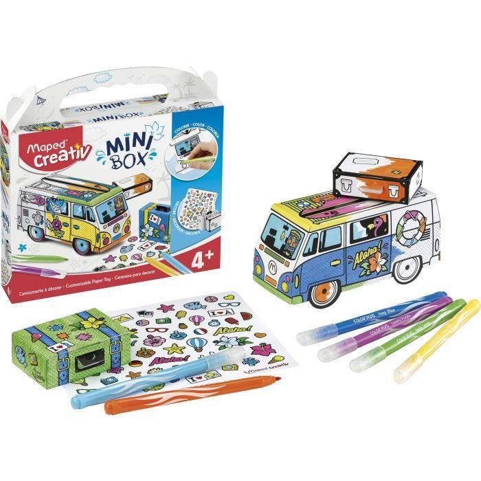 JEU DE COLORIAGE - DESSIN - POCHOIR MAPED CREATIV - Mini Box - Van à construire et déc