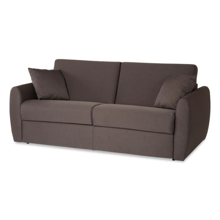 Canapé convertible Samba 3 places couchage 140 couleur taupe