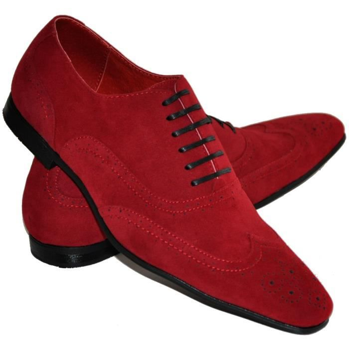 chaussures rouges pour homme rouge rouge achat vente richelieu cdiscount. Black Bedroom Furniture Sets. Home Design Ideas