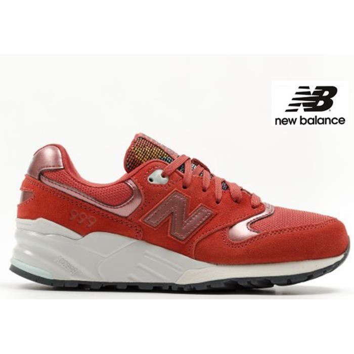 baskets new balance femme rouge
