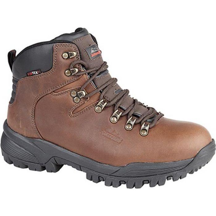 Johnscliffe Homme Garçons Canyon en cuir chaussures de randonnée Hillwalking Trail Trek Marron