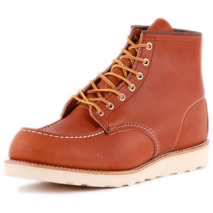 Red Wing 6-inch Moc Toe Hommes Bottes Tan - 7 UK