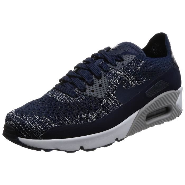 outlet online look out for reasonable price Baskets Nike Air Max 90 Ultra 2.0 Flyknit bleues marine 875943-401 ...