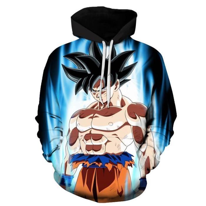 Dragon Ball Z Sweatshirt à capuche Homme 3D Hoodies Classique Anime Couple Sweats Manche Longue