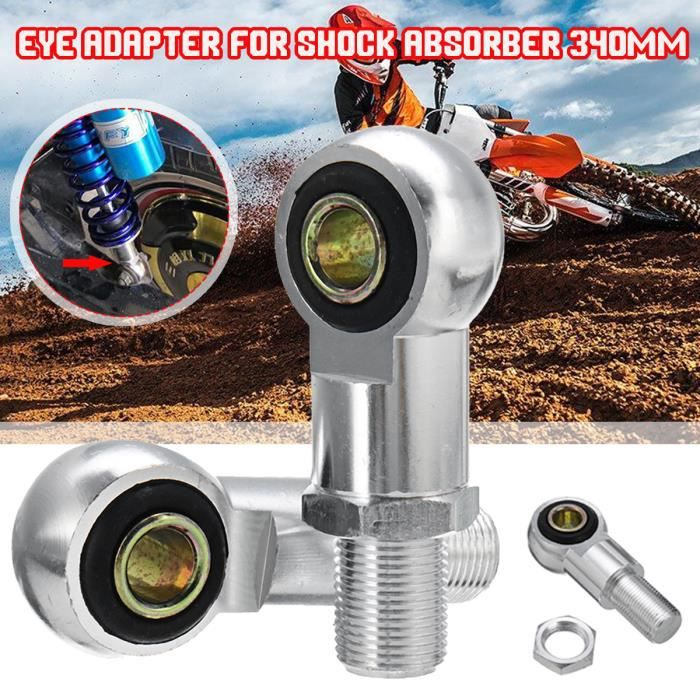 C-FUNN 10Mm Eye Adaptateur Eye End pour Amortisseur 340Mm Moto Scooter ATV Noir