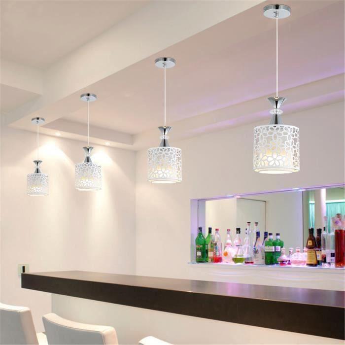 Tempsa E27 Moderne Suspension Cristal Lampe Fleur Plafonnier Luminaire Fer Suspendu Eclairage Lustre Salle A Manger