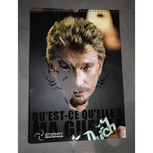 Calendrier 2020 Johnny Hallyday Officiel.Calendrier Johnny