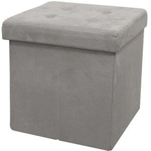 POUF - POIRE Pouf coffre de rangement pliable 37,5x37,5x37,5 cm
