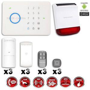 KIT ALARME Alarme maison - Système d'alarme sans fil GSM i…