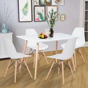 TABLE DE CUISINE  Table à Manger Rectangulaire de 4 à 6 Person Table