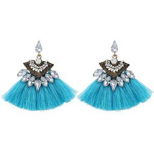 Boucle d`Oreille Vintage Turquoise Bleu Strass Super Mignonne Cadeau NN 1