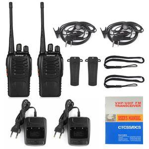 TALKIE-WALKIE UHF 400-470 MHz 5W CTCSS Radio à jambon double voi
