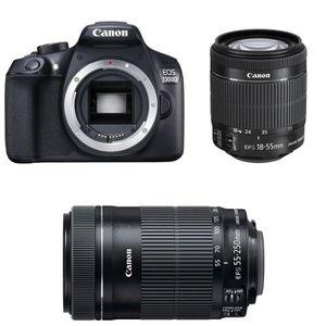 PACK APPAREIL RÉFLEX CANON EOS 1300D + Objectif EF-S 18-55mm f/3-5-5.6