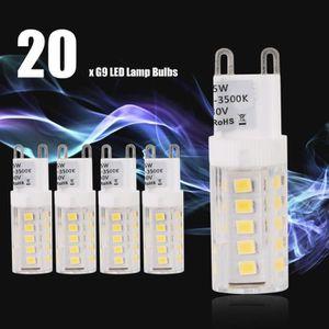 AMPOULE - LED 20 PCs Ampoule LED G9 Blanc Chaud 5W AC 230V Eclai