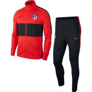 TENUE DE FOOTBALL SURVETEMENT ATLETICO MADRID NEWS TOP ADULTE NOIR/R