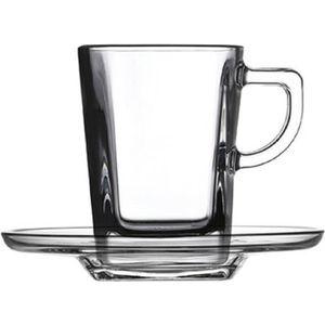 SERVICE À THÉ - CAFÉ PASABAHCE Lot de 6 tasses  en verre trempé Express