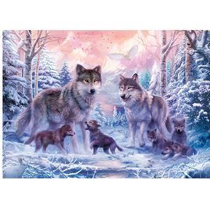 PUZZLE Puzzle Adulte : Les Loups Arctiques - 1000 Pieces