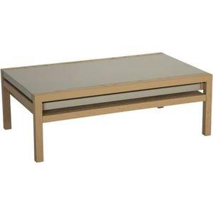 TABLE BASSE Table basse Koola Taupe/Chêne