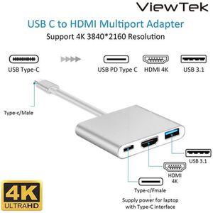 ADAPTATEUR AUDIO-VIDÉO  Viewtek USB-C 3-in-1 Adaptateur multiport (USB 3.0