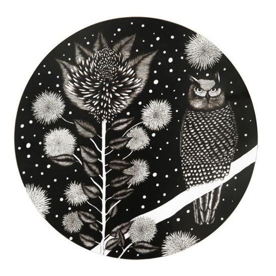 /Dessous de plat 21/cm Nadja Wedin design perruches Noir/