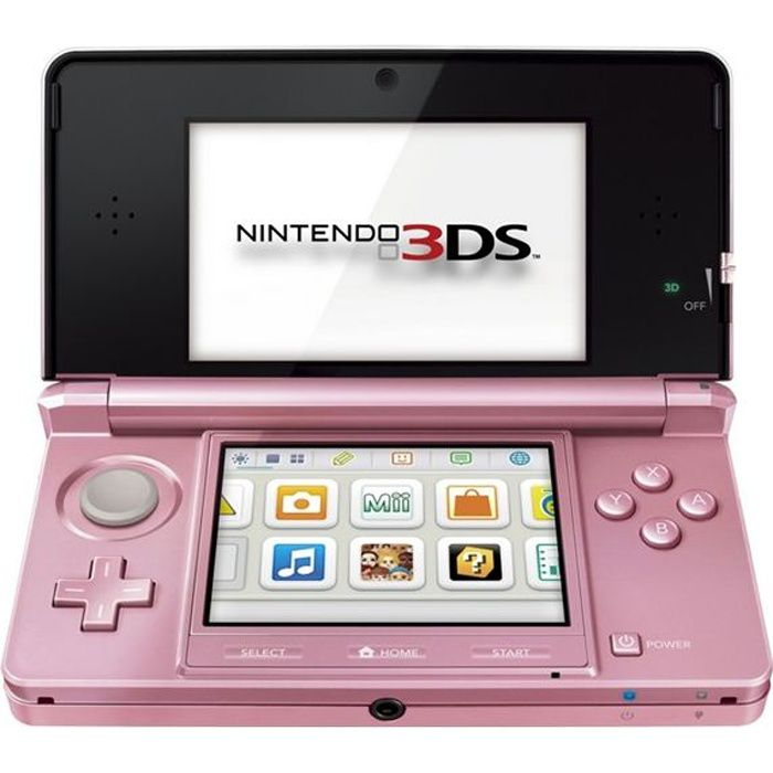 nintendo 3ds rose corail achat vente console 3ds. Black Bedroom Furniture Sets. Home Design Ideas