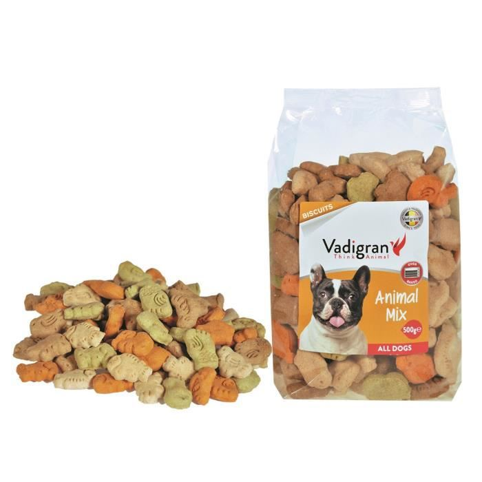 VADIGRAN Biscuits Animal Mix - 500 g - Pour chiens