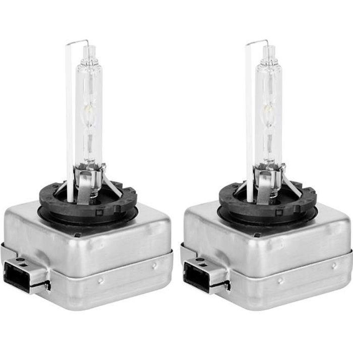 Ampoule blanche de voiture, remplacement blanc lumineux d'ampoule au xénon de 2pc D1S 12V 6000K 35W