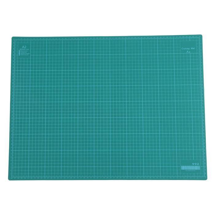 Planche de Découpe A2 Durable Tapis de Coupe en PVC Outil de Sculpture à la Main Bricolage Vert