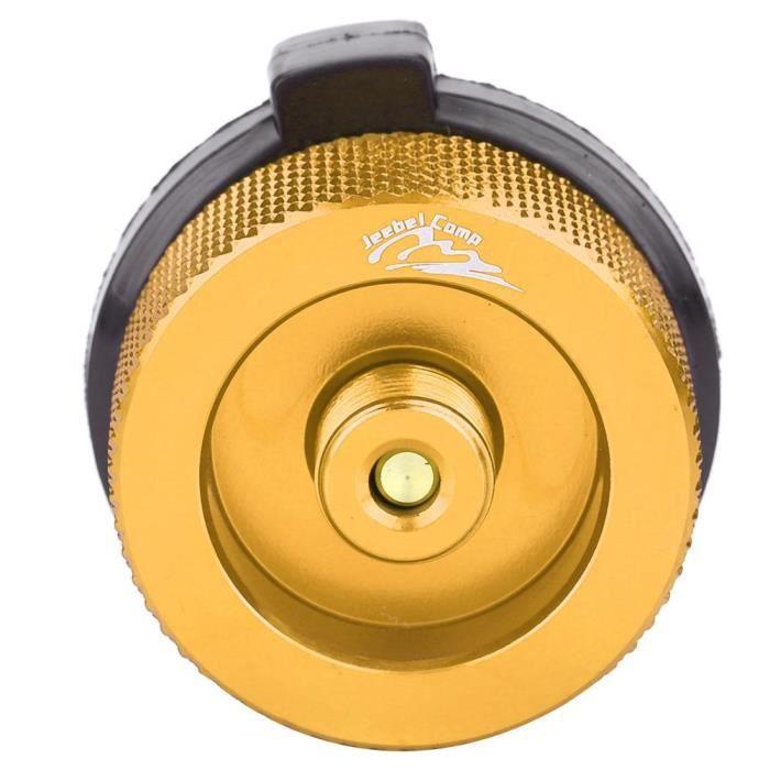 Poêles d'extérieur Adaptateur Entrée Type de vis Convertisseur Connecteur Valve Adaptateur de réservoir d'essence Or