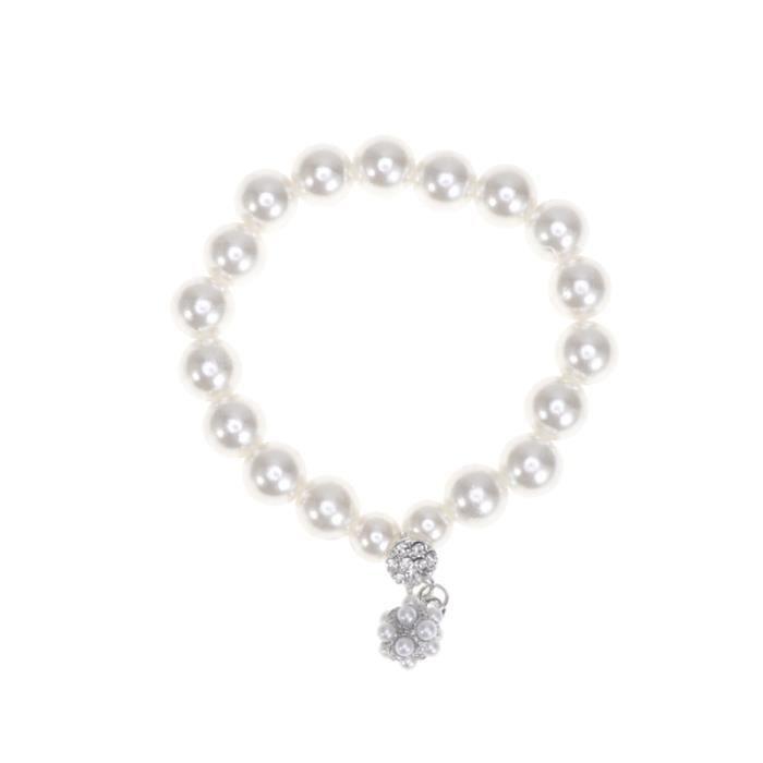 1PC Bracelet Petite Boule Élégant En Alliage De Perle Manuelle Bijoux pour Femmes Filles BRACELET - GOURMETTE - JONC