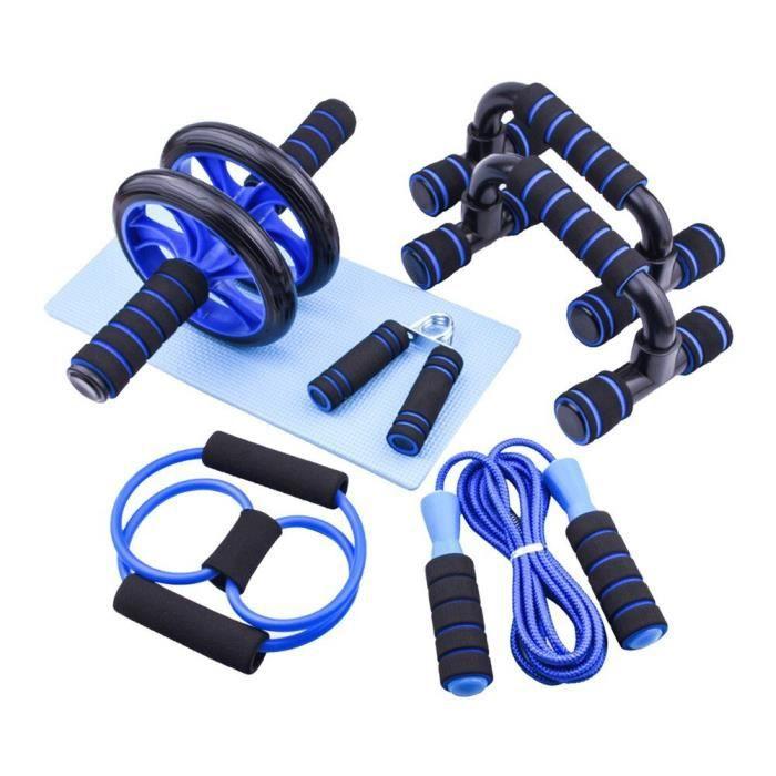 7 pièces équipement de Fitness de gymnastique entraîneur musculaire roue rouleau Kit rouleau Abdo - Modèle: 7pcs set - HSJSZHA03761