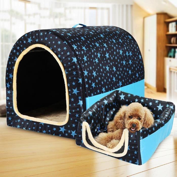 Corbeilles,Niche pour chien Portable entièrement lavable Maison pour animal de compagnie, cylindre pour chien, maison - Type S #E