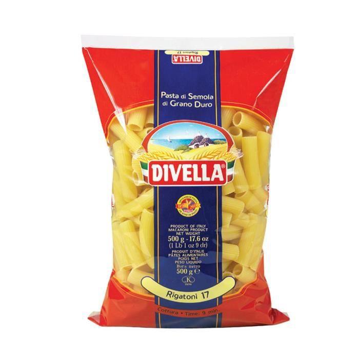 DIVELLA rigatoni 17 cuisson 10 minutes 500 grammes pâtes italiennes