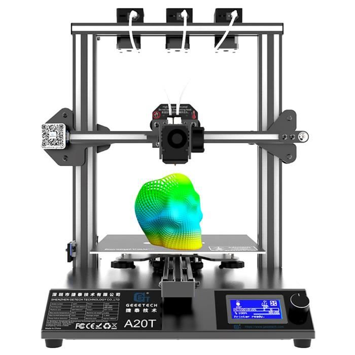 Imprimante 3D Geeetech A20t fournit des objets de différentes couleurs et enrichit considérablement la vie de votre impression 3D