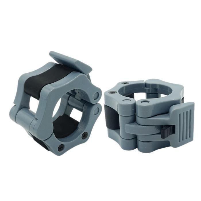 50 mm Une paire de verrouillage mâchoire Colliers olympique Haltères Muscle Clamp Bar Barbell Boucle_coierbr10778