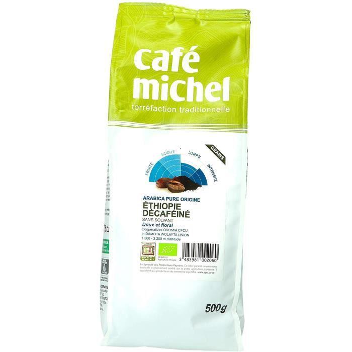 Café Michel Café Ethiopie Décaféiné Grains 500 g 428