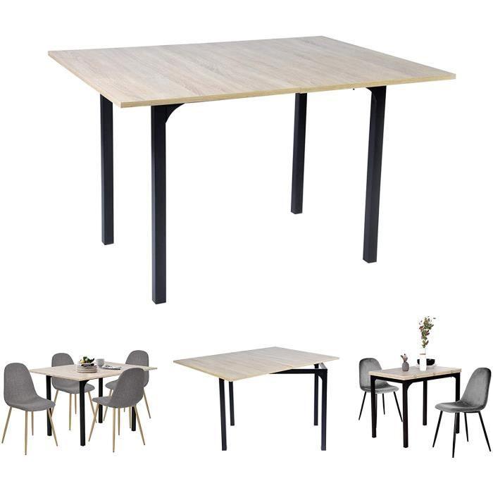 TABLE CUISINE AVEC MEUBLE COSY Table salle à manger extensible Bureau Informatique Rectangulaire Console Entr&eacutee en29
