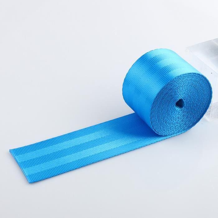 Bleu clair - Ceintures de sécurité en tissu pour siège de voiture de course, 3.6 mètres-rouleau, 2 pouces
