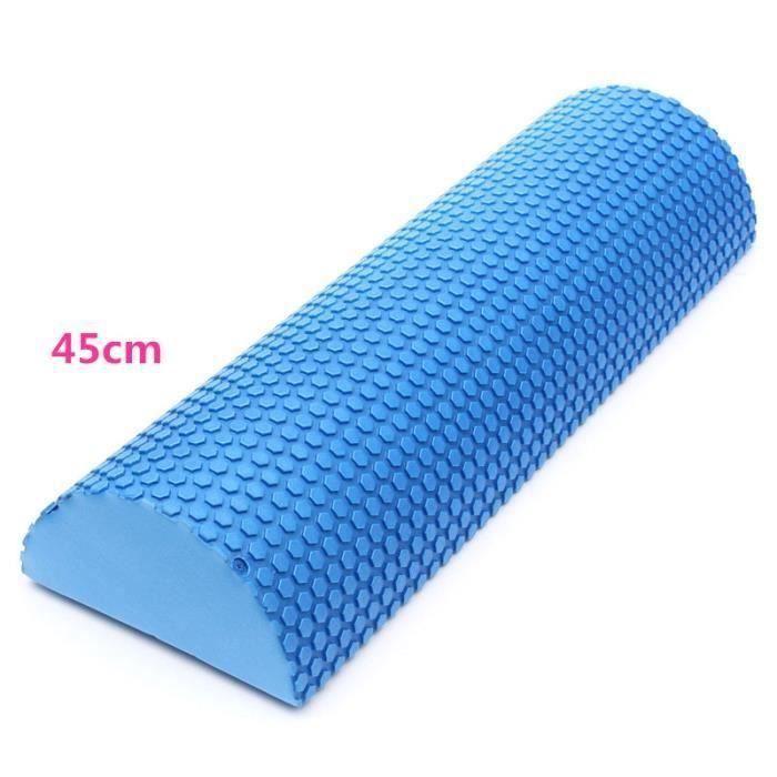 Colonne de Yoga fitness demi-cylindrique rouleau coussin en eva 45cm Wir34