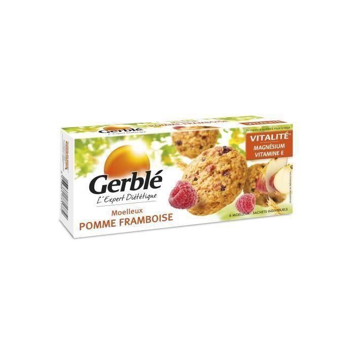 [LOT DE 4] GERBLE Biscuit moelleux à la pomme et à la framboise - 138 g