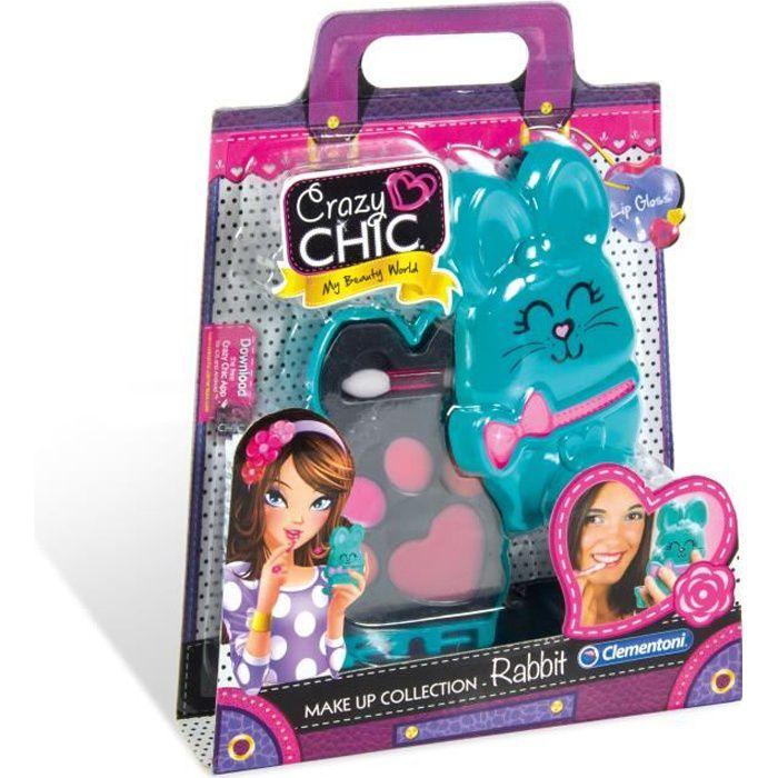 CLEMENTONI Crazy Chic - Mini palette de Maquillage Enfant - Modèle Lapin