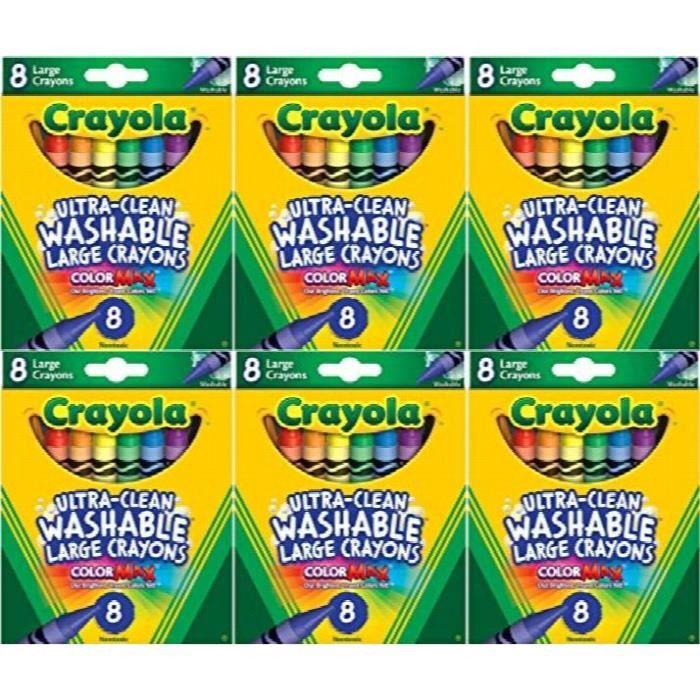 CRAYOLA Première grande Crayons de couleur pour enfants, Lavable 8 Count (pack de 6) J1Y20