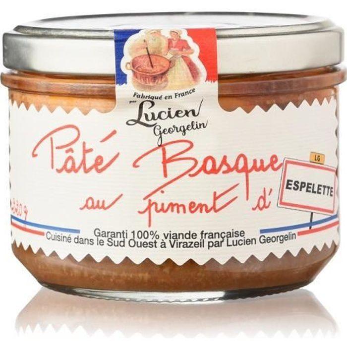 Paté basque piment d'espelette 220 g LES RECETTES CUITES AU CHAUDRON