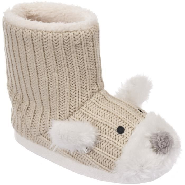 Trespass Sootie - Chaussons bottes style ourson - Fille