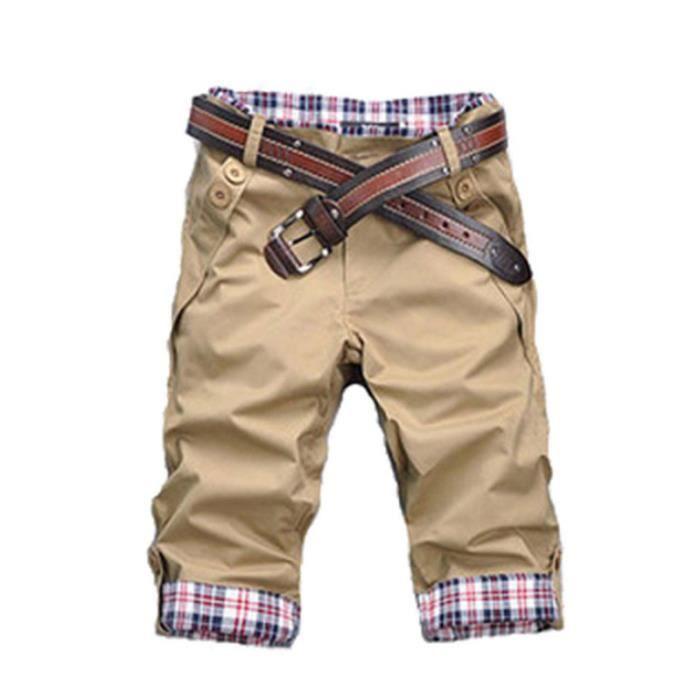 Short Homme Coton Shorts Homme-Noir E1051
